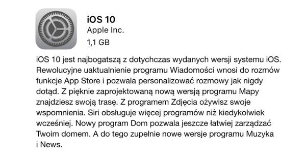 iOS 10 dostępny do pobrania – pełna lista zmian