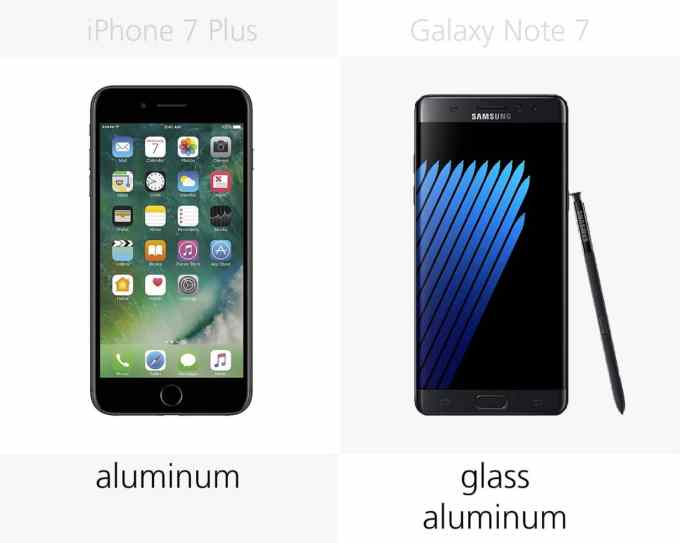 Obudowa: iPhone 7 Plus vs. Galaxy Note 7