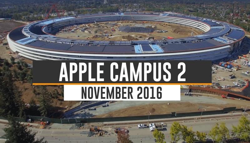 Wideo z placu budowy Apple Campus 2 (listopad 2016)