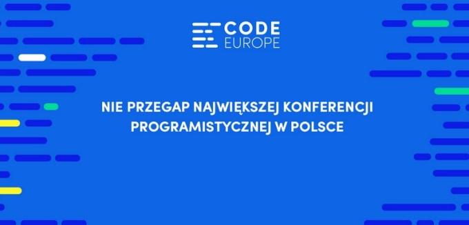 Code Europe 2016 - konferencja IT dla programistów