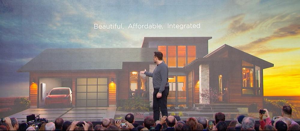 Elon Musk (Tesla) prezentuje Solar Roof i Solar City - słoneczne miasto przyszłości