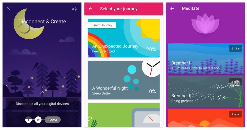 Favulous Motivate Me! app - screen