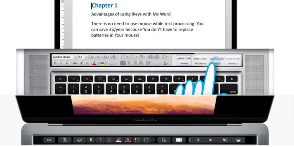 iKeys vs. Touch Bar (formatowanie w programie Word)