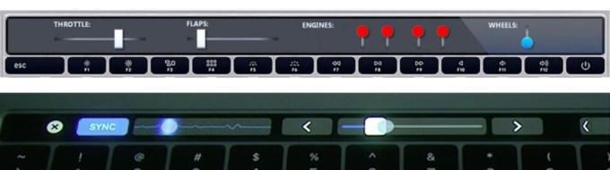 iKeys vs. Touch Bar (multitouch, suwaki)