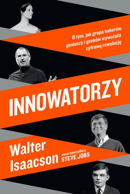 Oryginalna okładka polskiego wydania książki Innowatorzy Watera Isaacsona