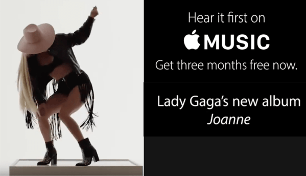 "Album ""Joanne"" Lady Gagi w Apple Music"