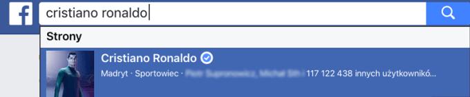 Liczba polubień profilu w wyszukiwarce Facebooka