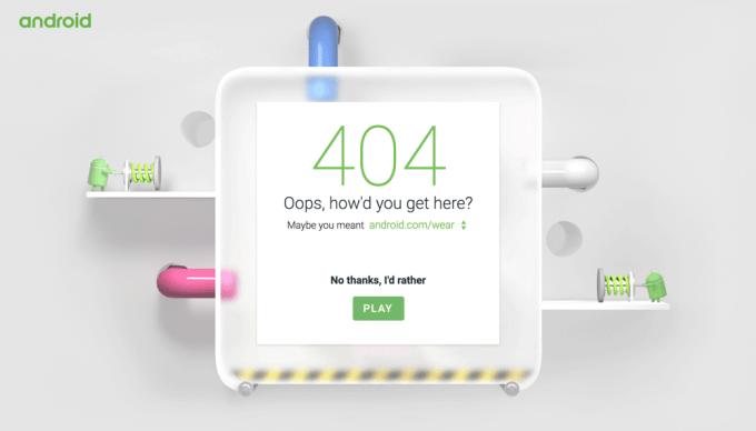 Strona 404 serwisu Android.com - gra