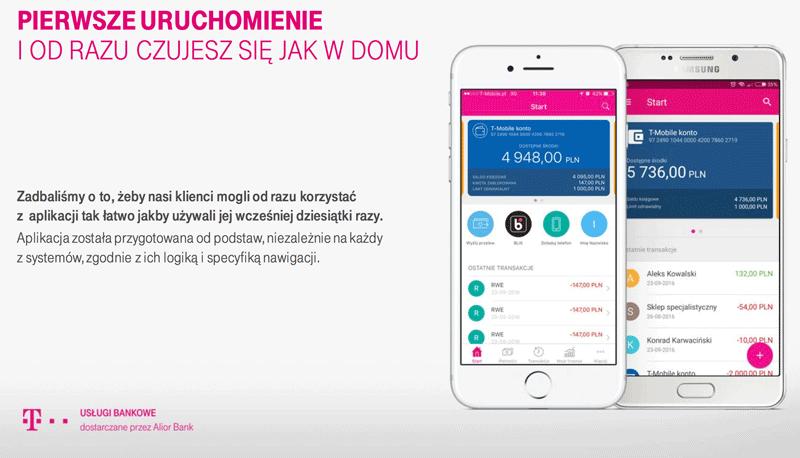 T-Mobile Usługi Bankowe - nowa aplikacja bankowości mobilnej