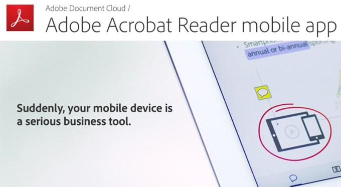 Adobe Acrobat Reader mobile app (iOS i Android)