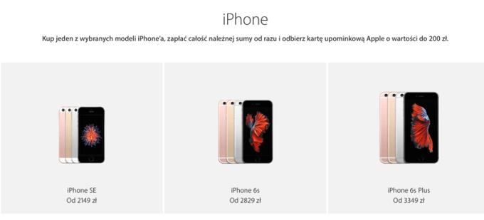 Promocja iPhone'ów z okazji czarnego piątku 2016