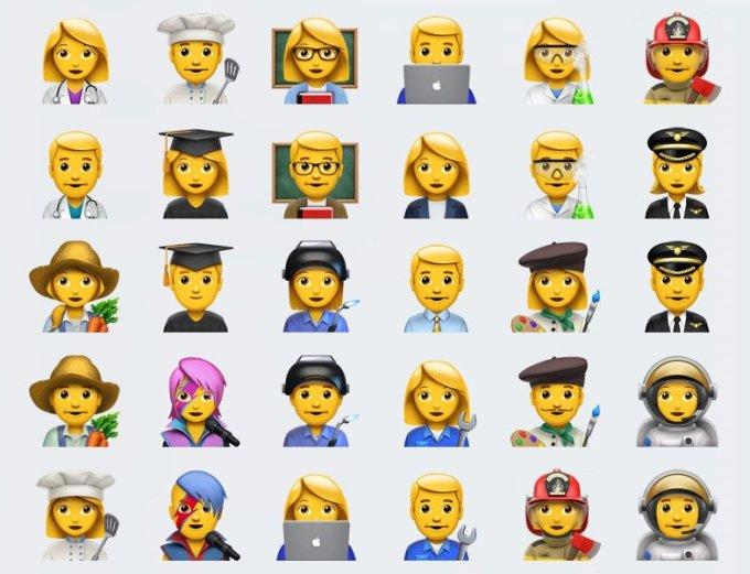 Nowe Emoji w iOS 10.2 przedstawiające zawody
