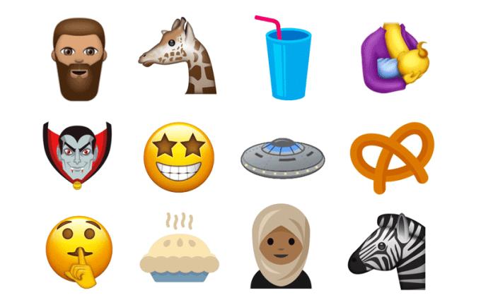 Przykłady Emoji z Unicode 10