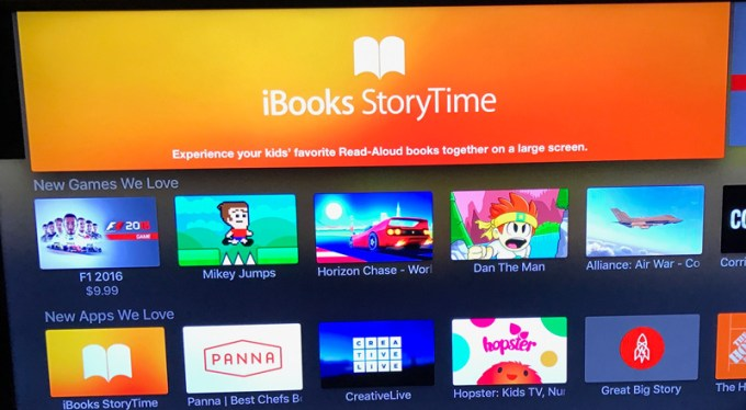 iBooks StoryTime na Apple TV