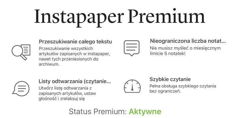 Instapaper Premium za darmo dla wszystkich (free)