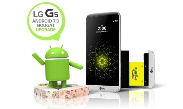 Flagowy model LG G5 otrzymuje Androida 7.0