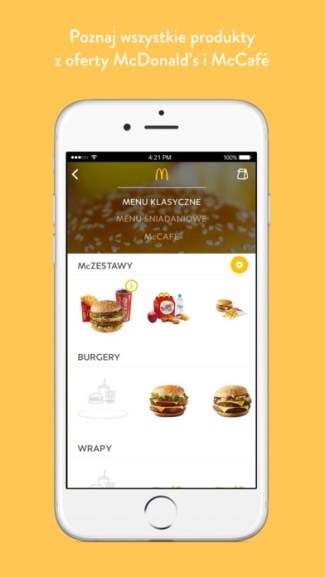 McDonalds mobile app PL
