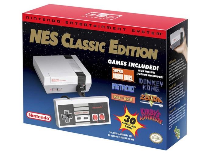 Oryginalne opakowanie konsoli Nintendo NES Classic Edition 2016