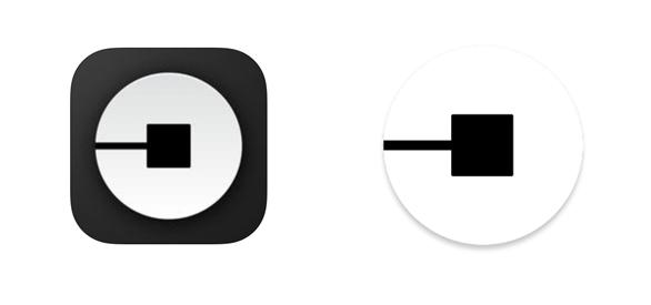 Nowe ikony aplikacji mobilnej Uber