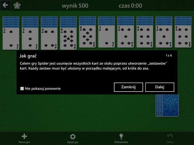 Zasady gry mobilnej Pasjans