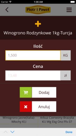 Screen aplikacji mobilnej Skanuj i Kupuj - Piotr i Paweł