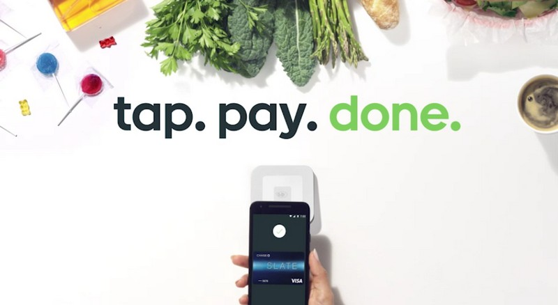 tap. pay. done. - Android Pay screen