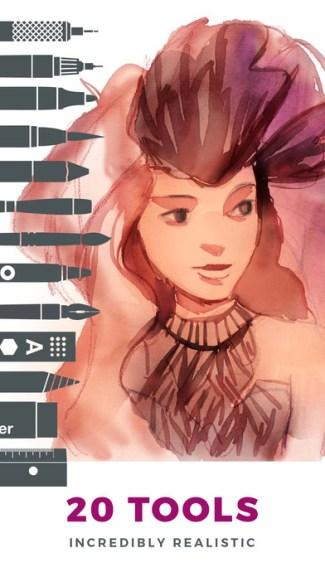 Tayasui Sketches Pro (screen)