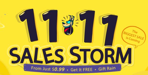 Wielka wyprzedaż Sales Storm 11.11 w Gearbest