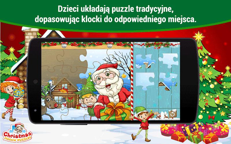 Christmas Jigsaw Puzzles - gra na święta - puzzle dla dzieci