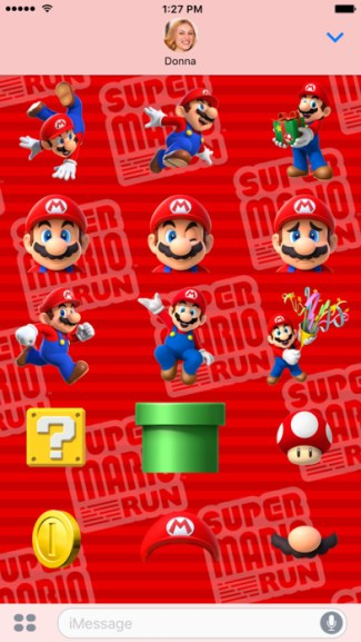 Naklejki z Super Mario Run do iMessage
