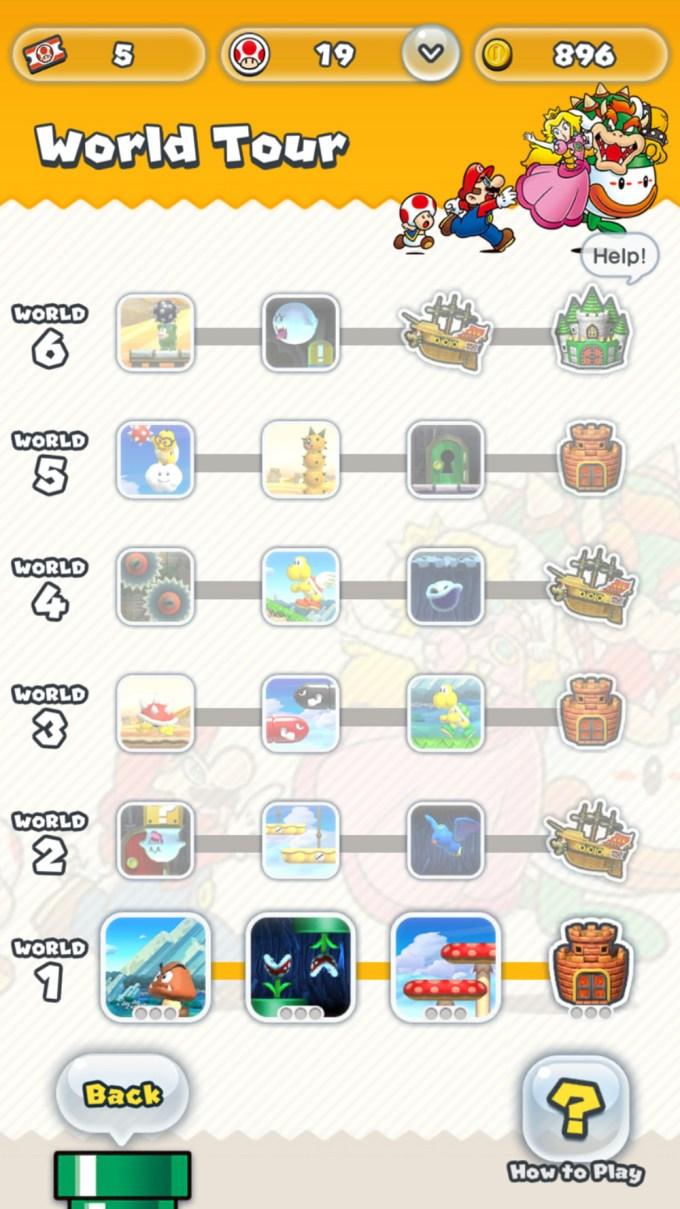 Odblokowany widok gry Super Mario Run
