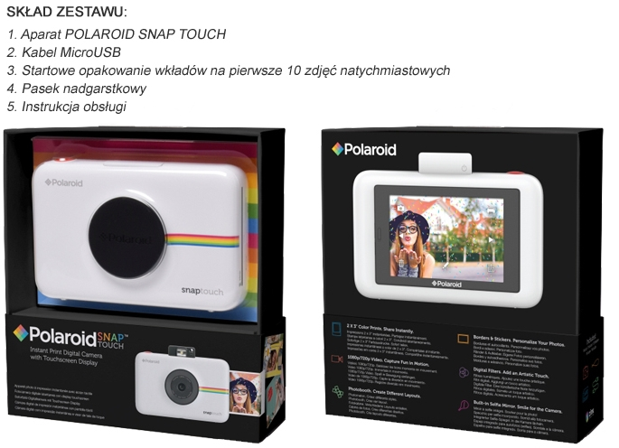 Polaroid Snap Touch w opakowaniu