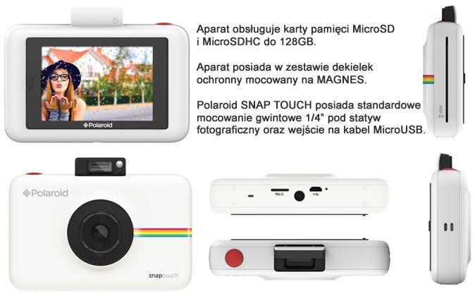 Polaroid Snap Touch - widok z każdej strony