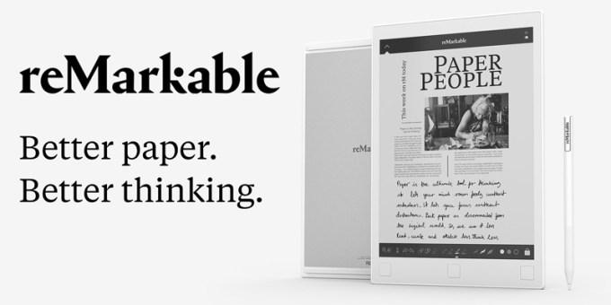 reMarkable - tablet z ekranem e-ink i rysikiem