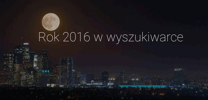 Rok 2016 w wyszukiwarce Google - podsumowanie wyszukiwań
