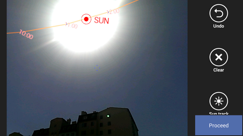 Screen z aplikacji mobilne ScanTheSun