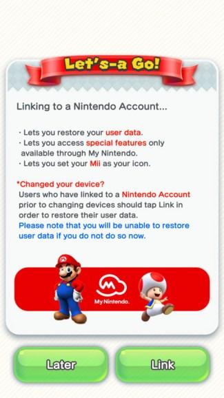 Linkowanie konta Nintendo z grą mobilną Super Mario Run