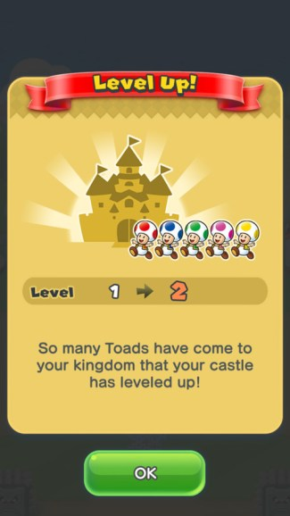 Super Mario Run - level up