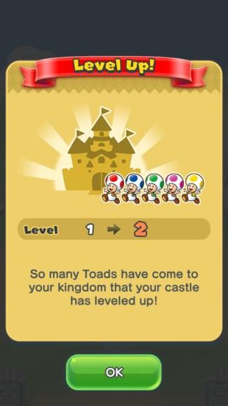 Super Mario Run - level up