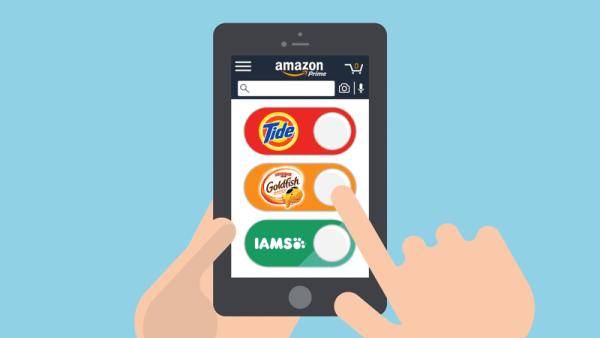 Cyfrowe przyciski Dash Buttons Amazona na smartonie