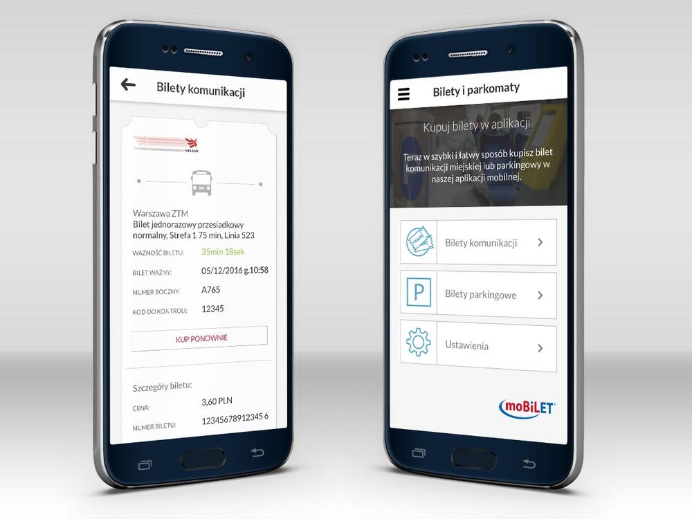 Bilety komunikacji miejskiej w aplikacji mobilnej Banku Millennium