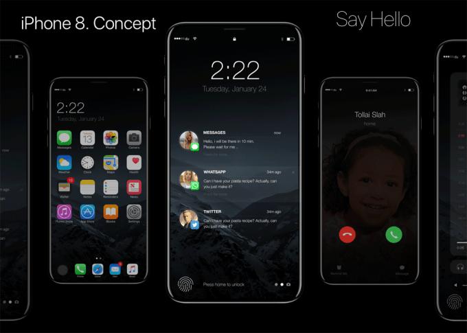 Koncept iPhone 8