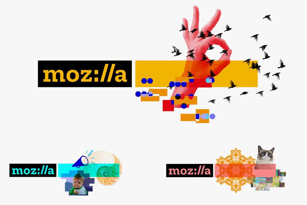 Warianty logo Mozilli