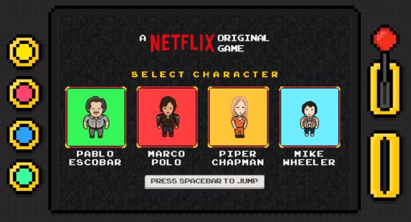 Oryginalna gra Netflix Infinite Runner z bohaterami seriali