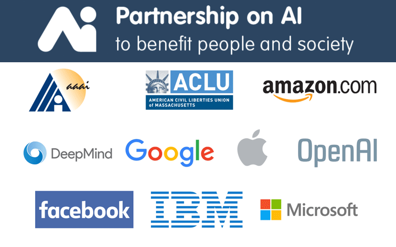 Partnership on AI - członkowie (logo)
