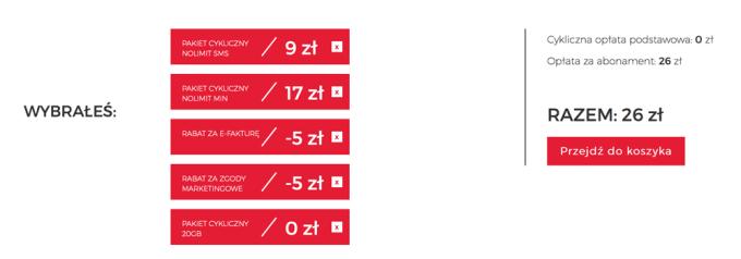 Abonament za 26 zł w Virgin Mobile