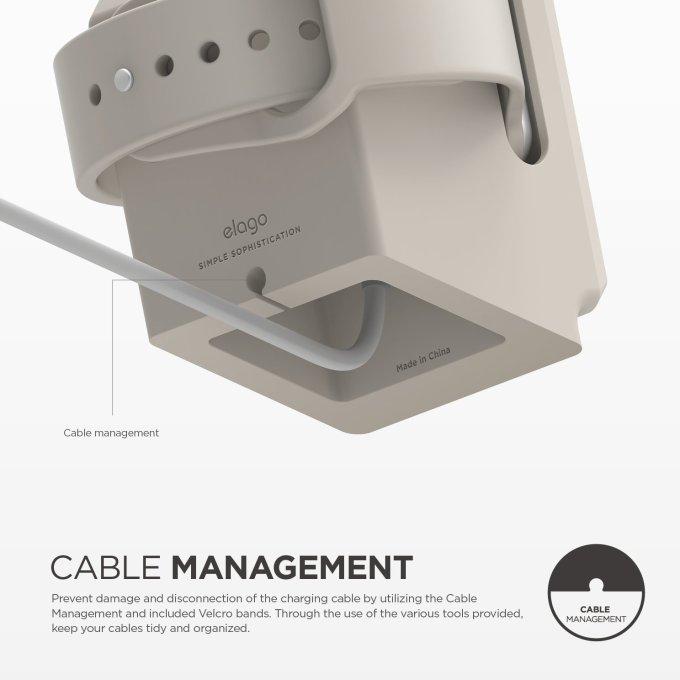Wyciecia na kabel ładowarki w stojaku W3 Stand dla Apple Watcha