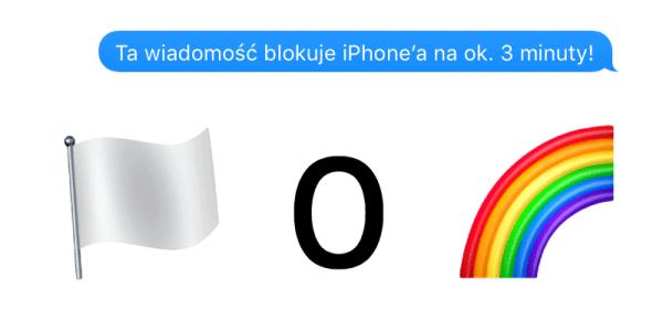 Ta wiadomość tekstowa zawiesza iPhone'a pod iOS 10