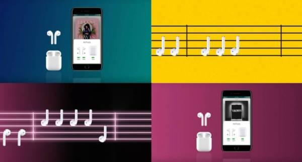 Cztery nowe reklamy słuchawek AirPods
