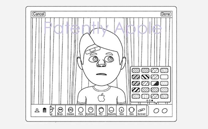 Przykład interfejsu narzędzia tworzenia awatarów dla iPada